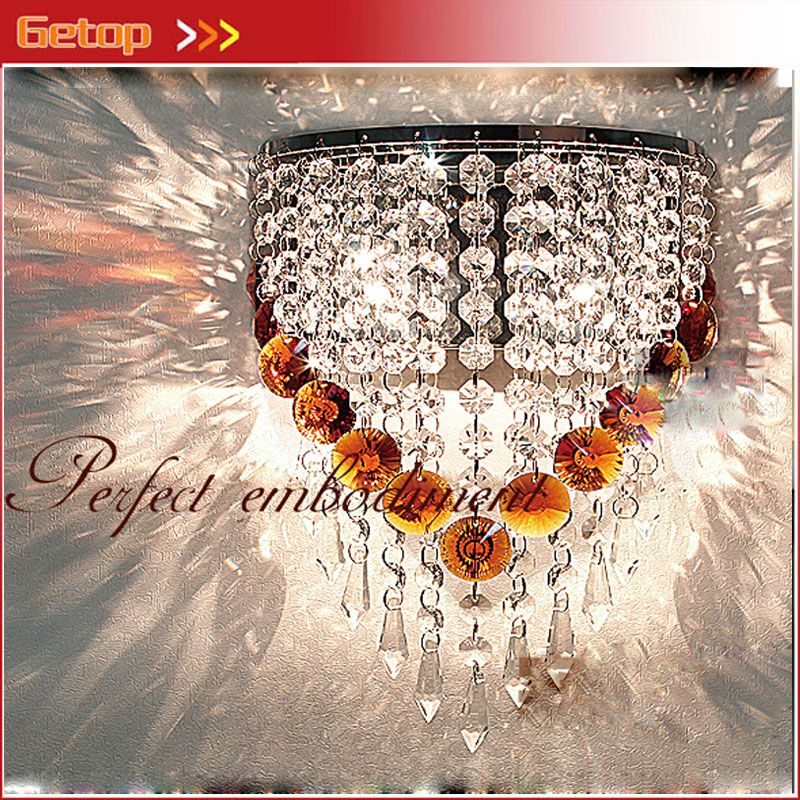 New Modern Crystal Wall Lamp LED K9 Crystal Lights Home Bracket Light Fixture for Corridor Bedroom Stair Lamp Free Shipping 2016 new crystal light with led chip modern fashion luxury lamps for bar coffee shop the corridor home 1or3 light free shipping