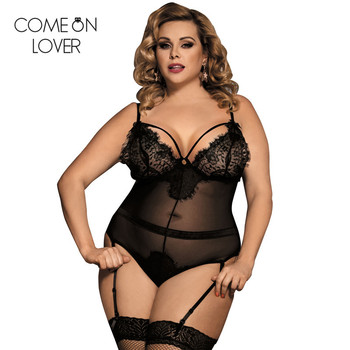 Body femme sexy teddy sheer mesh lady bodysuit plus size transparent sexy bodysuit lace women body suit rompers RE80266 plus plunging sequin mesh bodysuit