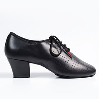 Suede Leather Shoe Dancesport Dance Ladies Teacher Practice Shoes For Ballroom Dance Or Latin Dance Split