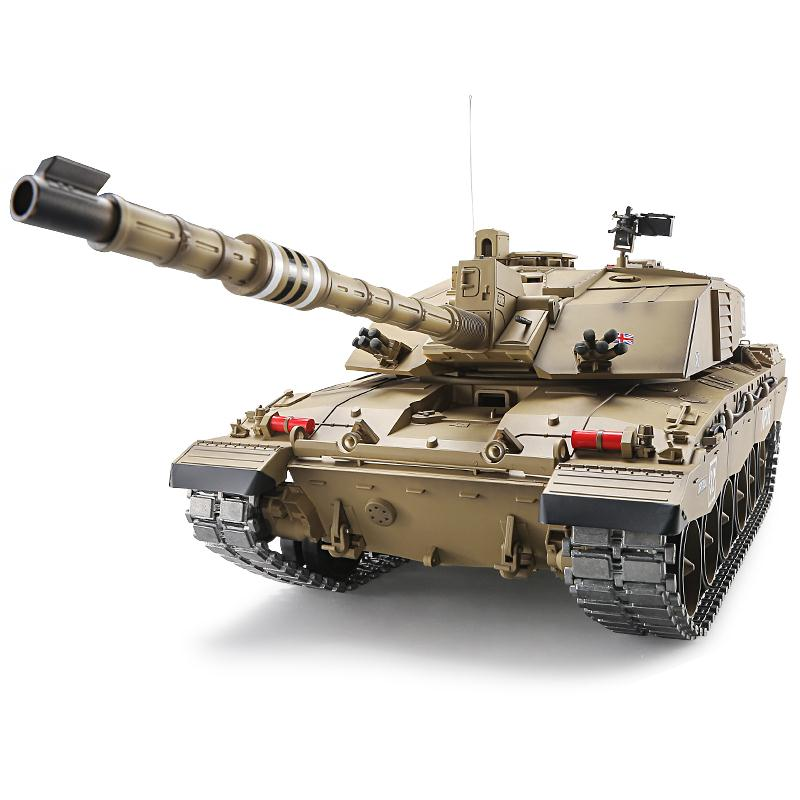 Heng Long RC Tank British Challenger 2 1:16 Remote Control Chariots 2.4G Armored Car BB/Smok/Sound Electronic Vehicle Model Toy