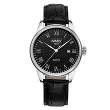 Luxury NARY Brand Watch Men Watch Leather Strap Fashion WristWatch High-grade Business Quartz Watch Clock Relogio Masculino