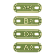 Team Sports souvenirs 3D PVC A+ B+ AB+ O+ Positive Blood Type Group Patches Tag Tactical Military Rubber Badge Tag for Bag Shoes monospecific anti b antibody and abo blood group