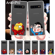 Silicone Phone Case For Samsung Galaxy S10 S9 S8 S7 S6 Plus Lite edge Soft Cover Back Case Spider Deadpool Iron Man AnkinPro(China)