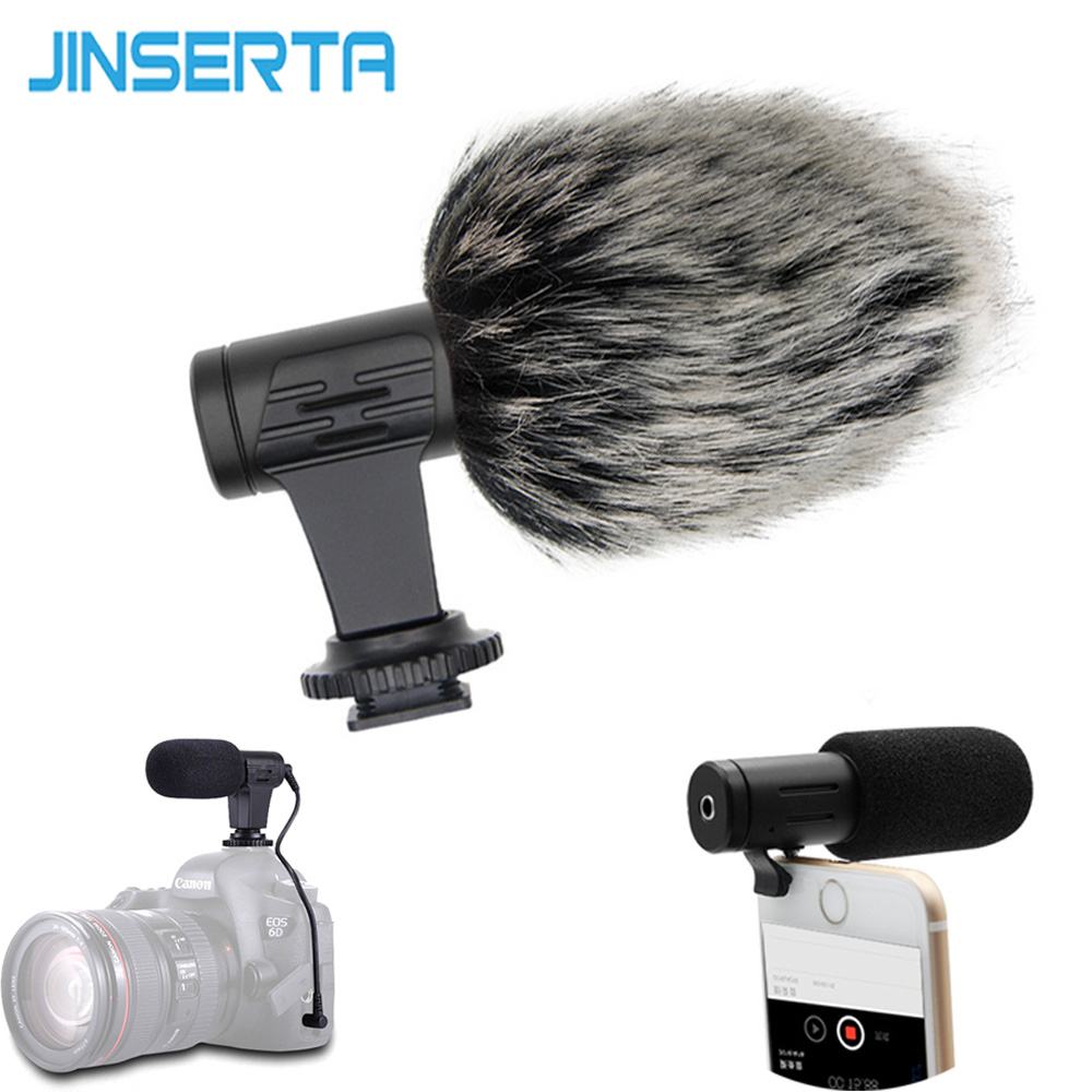 JINSERTA DSLR Microphone Video Record Mic Youtube Blogging Recording Microphones with 3.5mm Jack for Sony iPhone HuaWei DSLR susannah gardner blogging for dummies