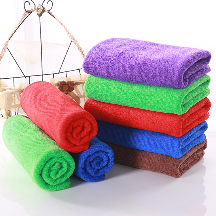Microfiber Fast Drying Travel Camping Sports Beauty Salon Gym Solid Color Towels