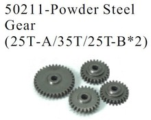HSP Parts 50211 Optional Powder Steel Gear (25T-A/35T/25T-B*2) 4Pcs For 1/5 RC Cars Gas Power Monster Truck 94050 SHELETON Baja