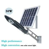 50 Вт Высокопроизводительные интеллектуальные солнечный уличный фонарь лампа проектора двор светильник напольный светильник интеллектуал