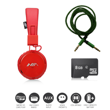 Economic Set: Original NIA 1682S + 8 GB Micro SD Card a Set Multifunction Headphones One Cable for Free