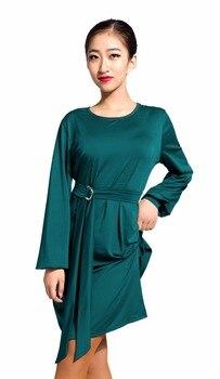 G3033  latin ballroom dance professional lantern sleeve style dress