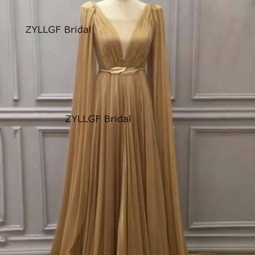 ZYLLGF robe De mariée princesse musulmane robe De soirée arabe longue remise robe De bal avec ceinture SA492