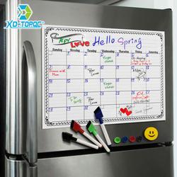 A3 доски ежемесячный планировщик магнитная доска объявлений Кухня ежедневно гибкий объявлений памятные доски магнит на холодильник