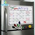 A3 ホワイトボード毎月プランナー磁気メッセージボードキッチン毎日柔軟な掲示板メモボード冷蔵庫マグネット描画カレンダー
