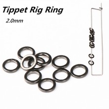 Maximumcatch Fishing Tool 100pcs/lot YM-6046 Carp Fishing Round Edge Tippet Rig Ring Fishing Tackle Accessories