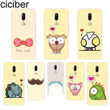 ciciber Cartoon Animal Phone Case For Oneplus 7 Pro 6 5 T Soft TPU Back Cover Clear Coque for 1+7 Pro 1+ 6 1+5 T Fundas Shell