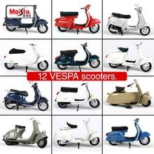 Maisto 1:18 12 vespa scooters motorcykel diescast för kvinnor ridning motorcykel mini motorcykel modell närvarande för att samla 39540