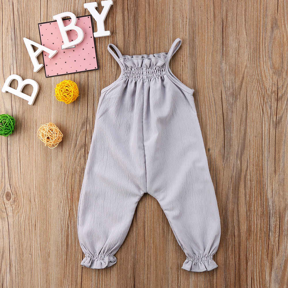 Novedad de 2018, ropa para bebés recién nacidos, Pelele de tirantes, mono sin mangas para verano