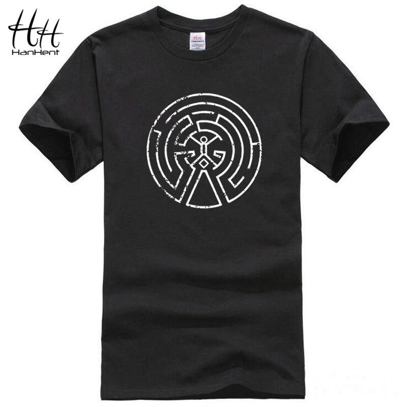HanHent Westworld Maze Men Cotton T Shirts 2017 New Arrival s