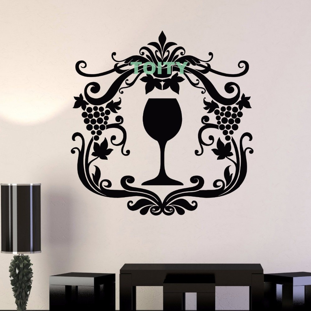 Aliexpress Com Buy Vinyl Wall Decal Wine Glass Alcohol