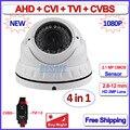 4en1 2MP Visión Nocturna de cámaras de seguridad al aire libre 1080 P HDCVI AHD-H HDTVI CVBS cámara cctv AHD, Lente de distancia focal variable, OV sensor, OSD, WDR