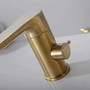 Image 2 - Gold brush Bathtub faucet mixer with hand shower double function bathtub faucet set deck mounted bath shower tap MJ04112BG
