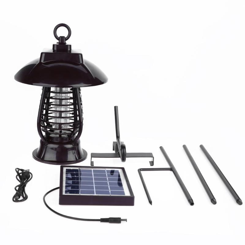 Portable Solar Panel LED Mosquito Killer Light IP64 Waterproof Lamp Insect Killer Pest Repeller Bug Killer for Garden Hiking 6 led waterproof solar animal repeller predator deterrent light