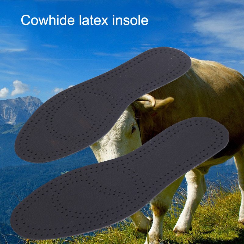 1 Pair Massage Insoles Unisex Leather Latex Insole Arch Support Breathable Shoes Cushion New