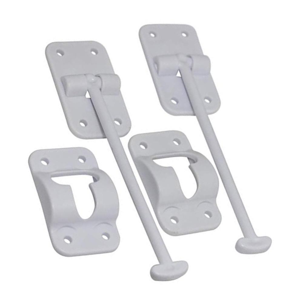 Hitch-Bracket Loading-Trailer Trailer-Loading T-Style-Door Rv-Camper White for Door-Latch