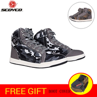 SCOYCO Motorcycle Boots Men Road Street Camouflag Casual Shoes Bato Motocross Boots Breathable Moto Protective Gear Breath