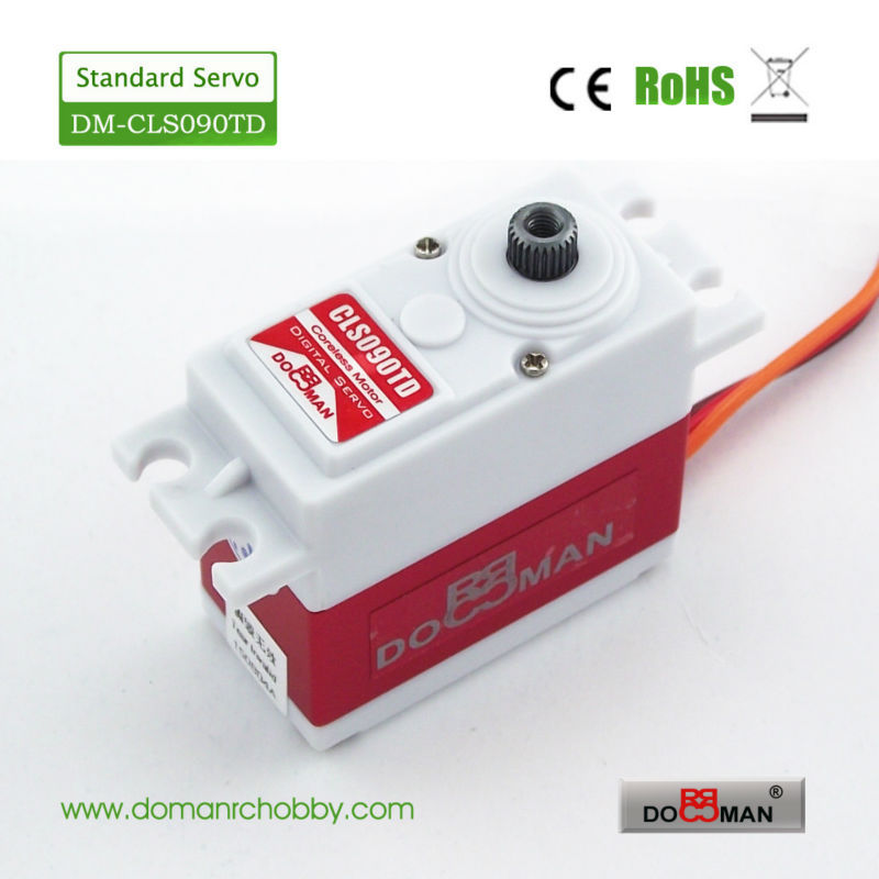 4pcs lot DM CLS090TD DOMAN RC High torque titanium gear 9kg digital Servo for rc buggy