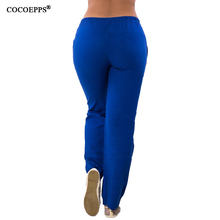 2019 Autumn Women Harem pants 5XL 6XL Plus Size Elastic Waist Pants Casual Big Size Solid Chiffon Long Pants Large Size Trousers