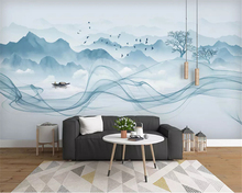 beibehang Custom fashion stereo wallpaper new Chinese landscape abstract smoke artistic background wallpapers for living room