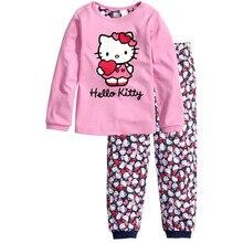 Children Girls Clothing Sets Cartoon Mouse Suits 2 pcs sleepwear long sleeve cartoon pajamas