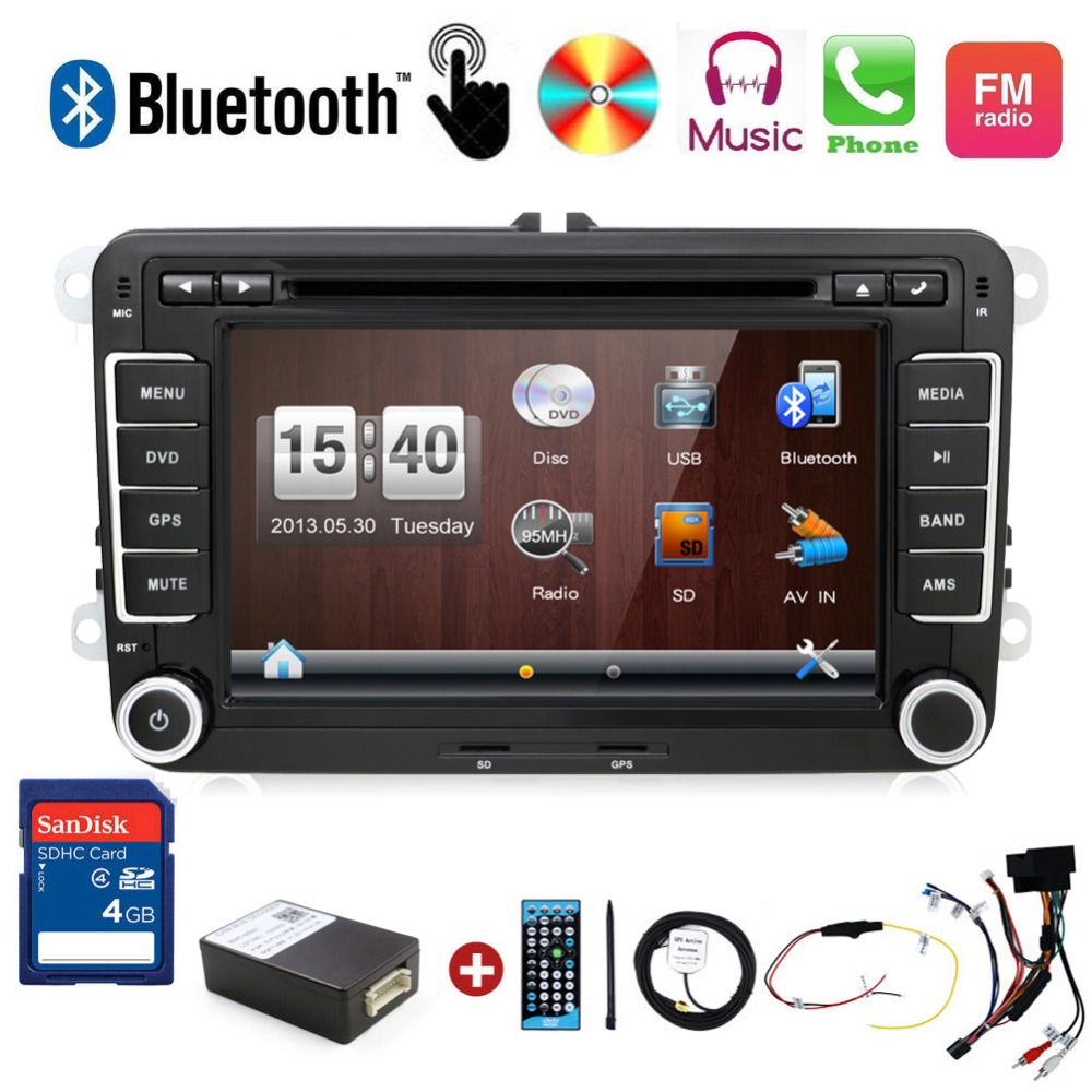 autoradio 2 din car dvd vw navigation for Volkswagen GOLF 4 GOLF 5 6 POLO PASSATCC JETTA TIGUAN TOURAN SCIROCCO T5 with GPS 2 x car decoration stickers car decals for volkswagen vw golf polo sagitar jetta tiguan gti