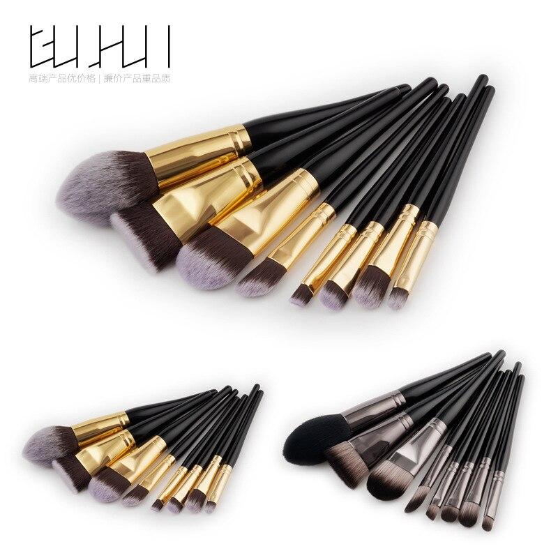 8 makeup brush, beauty tool set, foundation brush, makeup beauty, GUJHUI source factory 5 8 10 makeup brush make up tool set beauty brush foundation brush rose gold gujhui