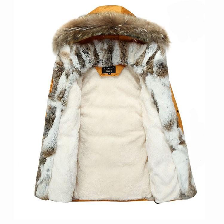 Winter Down Jacket Men Fur Parka Fashion Casual Thicken Warm Fur collar Hooded Men Women jacket&coat couple Down Jacket S-5XL (3)