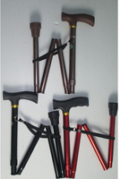 Aluminum Crutch Elderly Walker Folding Retractable Portable Cane Crutch Elderly