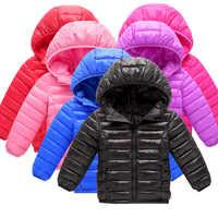 Enfants manteau printemps automne léger vers le bas coton enfants veste garçons vêtements d'extérieur enfant manteaux bébé vêtements fille veste coupe-vent