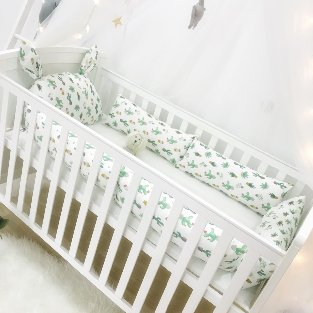 Baby Bedding Cotton Crib Baby Bed Surrounding Childrens Bed Anti-collision Bed Kit Can Be Customized Good Heat Preservation Bedding Sets