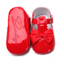 Princess First Walkers Baby Moccasins Solid Bowknot Party Babies