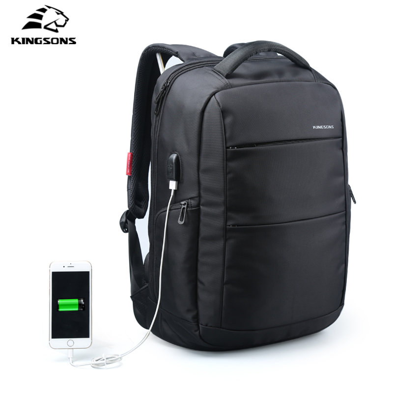 Kingsons Waterproof Laptop Backpack USB Charger 15.6 inch School Bag Anti-theft Boy's Girl's Dayback Women Travel Bag