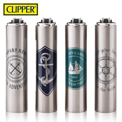 Spain Clipper Lighters,Inflatable metal grinding wheel gas butane lighter Gift Box clipper lighter