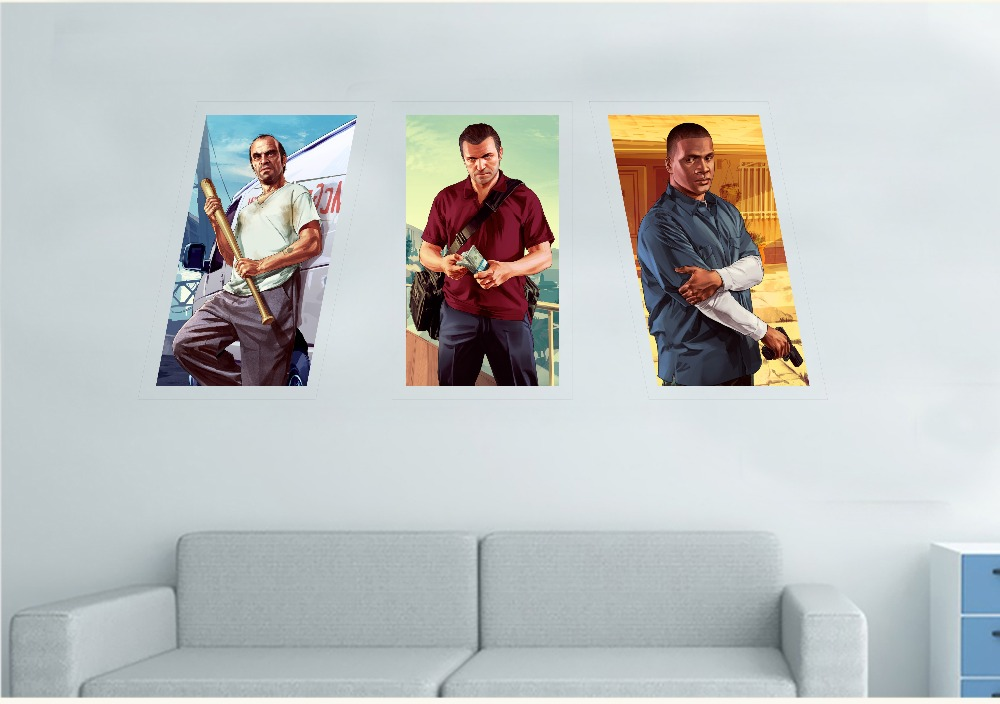 Decoration moderne home decor painting canvas gta 5 poster ...