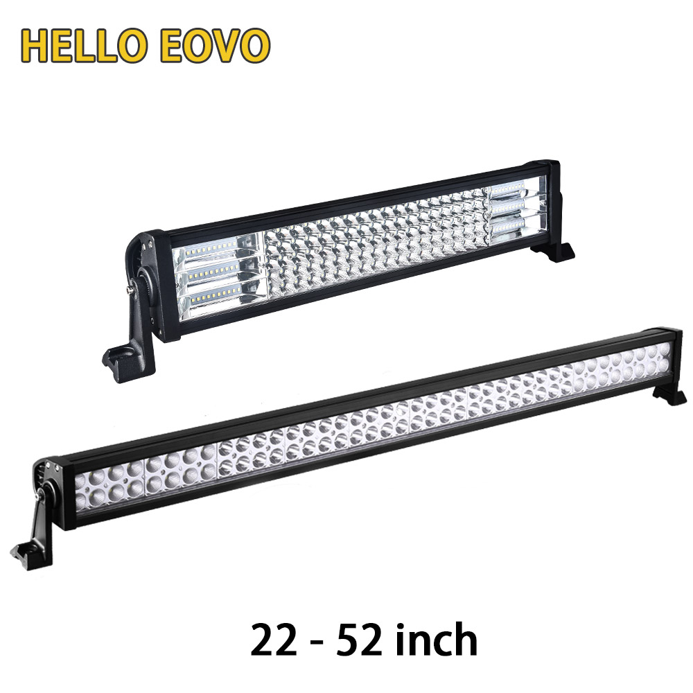 HELLO EOVO 22 32 42 52 inch LED Light Bar LED Bar Work Light for Driving Offroad Car Tractor Truck 4x4 SUV ATV 12V 24V