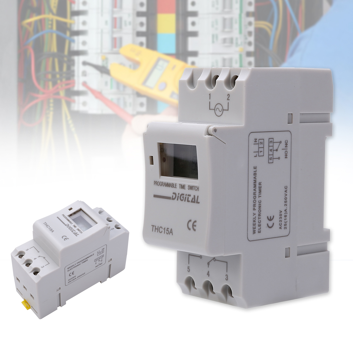 цена на Mayitr AC 220V 16A Time Relay Switch LCD DIN Programmable Weekly Rail Timer Switch 50 / 60Hz Electrical Equipment