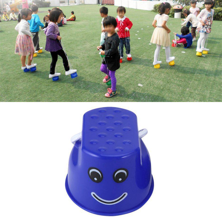 1 Pair Kids Funny Plastic Walk Stilt Jump Outdoor Fun Sports Balance Training Equipment