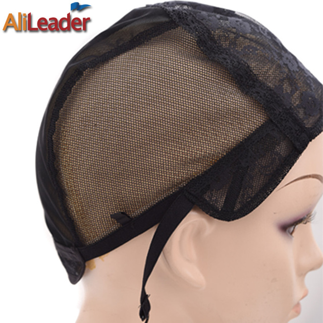 Best Supplier Alileader Lace Wigs Making Tools Weft Wig Cap 4 Size Lace  Caps Rose Net Wig Caps For Making Wigs Adjustable Straps 0f8869825b3a