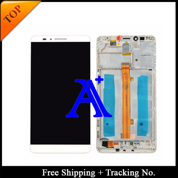 Free Shipping 100% Tested  For Huawei Mate 7 LCD Display Touch Screen Digitizer Assbemly With Frame  - Black/White/Gold