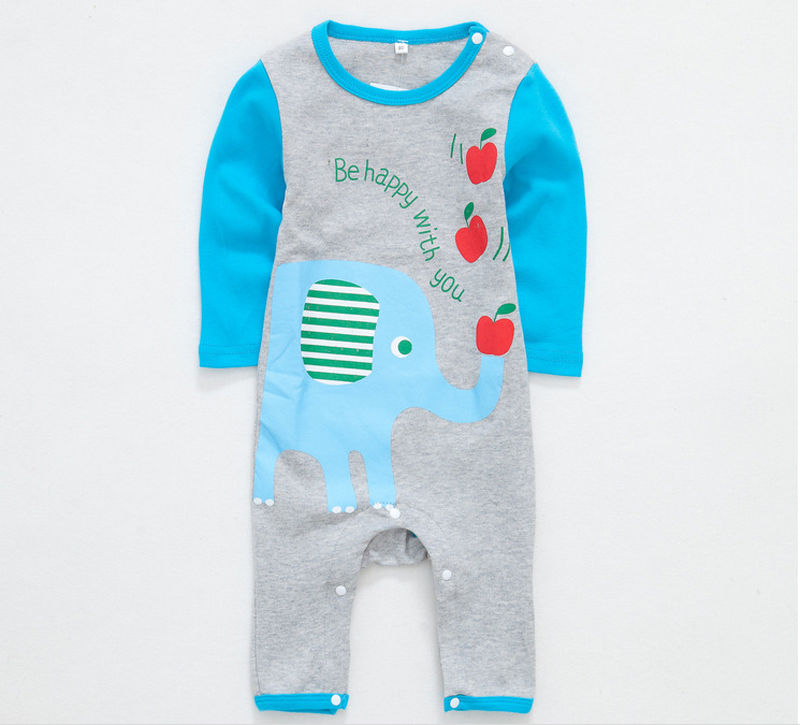 HOT Newborn Toddler Infant Baby Boy Girl Unisex Casual Warm Clothes Cute Cartoon Romper Spring Outwear puseky 2017 infant romper baby boys girls jumpsuit newborn bebe clothing hooded toddler baby clothes cute panda romper costumes