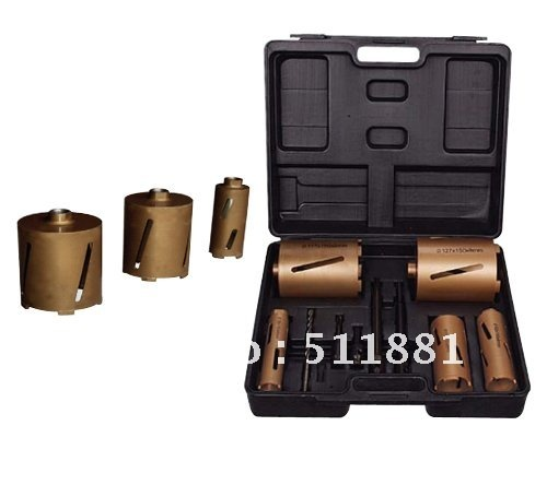 Box of NCCTEC DRY Diamond Core Drill Bits set | including 11pcs of DRY drill bits and accessories 35mm ncctec core drill magnetic base drills nmd35c 1 4 14kg net weight 1200w