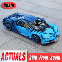 DHL Technic Car 20086 Compatible With 42083 Chiron Car Building Blocks Bricks Educational Cars Toys to Boy Car Gifts Model
